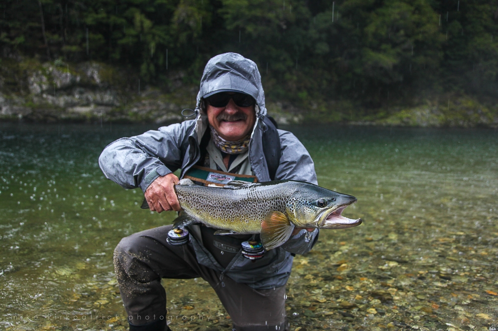 Brown Trout caught in the rain